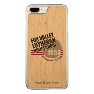 Segundo grau do Lutheran do vale do Fox do Est em Capa iPhone 8 Plus/ 7 Plus Carved
