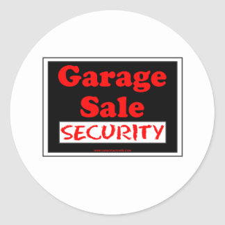 Segurança da venda de garagem adesivo