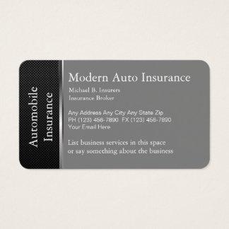 Seguro de automóvel cartão de visitas