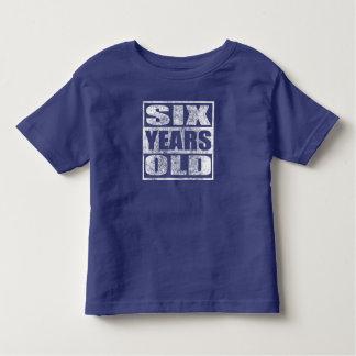 Seis anos velho - 6a camisa feliz do aniversário T