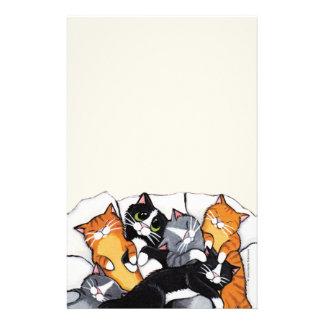 Seis artigos de papelaria de papel de nota dos gat