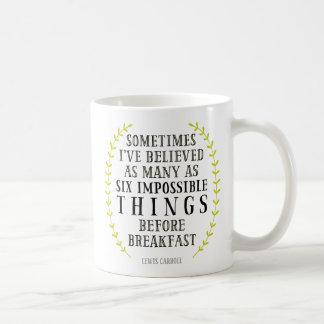 Seis canecas impossíveis das citações das coisas