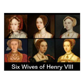 Seis esposas do cartão de Henry VIII