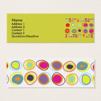 Seixos, cartões de visitas magros coloridos das