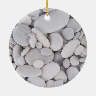 Seixos, rochas, fundo ornamento de cerâmica
