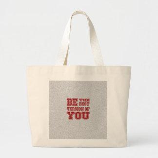 Seja a melhor versão de você bolsa tote grande