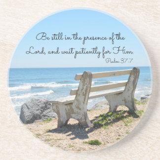 Seja ainda na presença do senhor, 37:7 do salmo porta copos de arenito