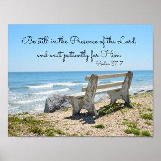 Seja ainda na presença do senhor, 37:7 do salmo pôster