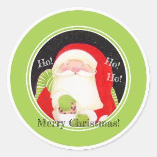 Seja alegre! Etiquetas do papai noel do Natal