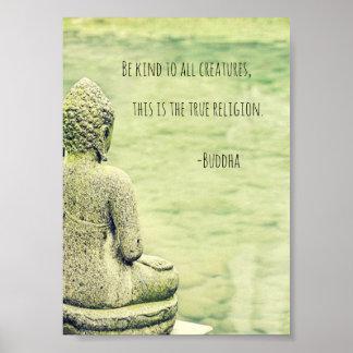 Seja amável a todo o poster das citações de Buddha