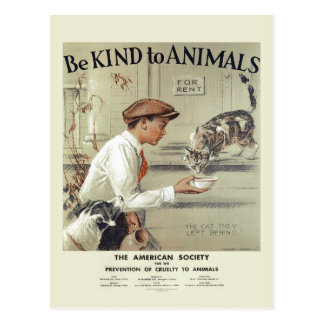 Seja amável ao cartão #2 do vintage dos EUA dos
