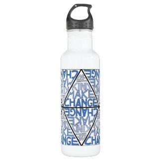 Seja amável fazem a mudança - garrafa do movimento