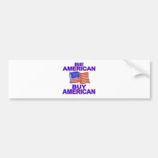 Seja americano adesivo para carro