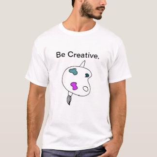 Seja camisa criativa de T