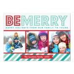 Seja cartão alegre do feriado da colagem da foto convite personalizado