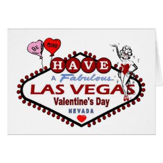 SEJA cartão do dia dos namorados de Las Vegas da