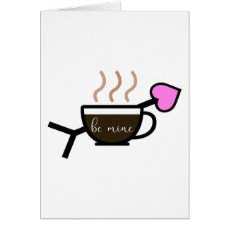 Seja cartão dos namorados do café da mina