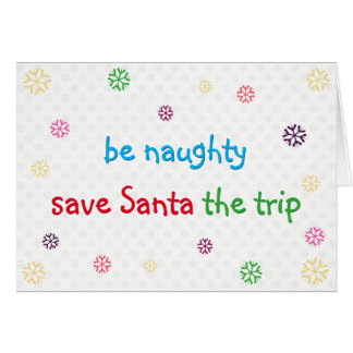 Seja cartão engraçado impertinente do feriado do