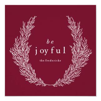 Seja cartão moderno alegre do feriado de Botanics