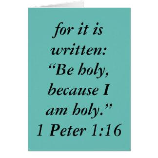 """""""Seja"""" cartão santamente da escritura"""
