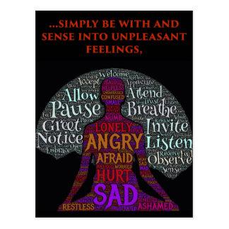 Seja com seu cartão dos sentimentos