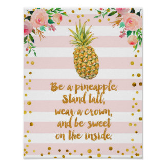 Seja como o impressão da arte do poster do abacaxi