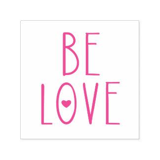 Seja coração do amor carimbo auto entintado