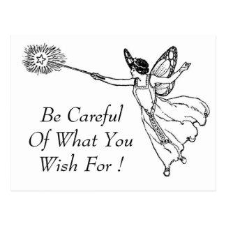 Seja cuidadoso o que você deseja para! Cartão