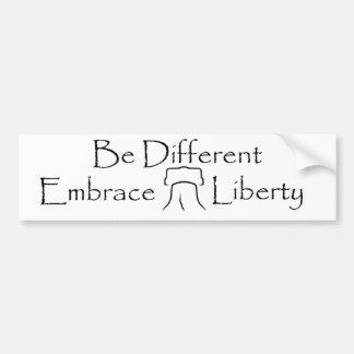 Seja diferente - a liberdade 2 do abraço adesivos
