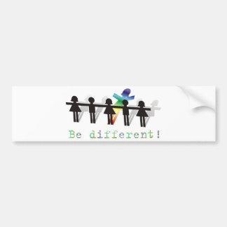 Seja diferente! adesivo para carro