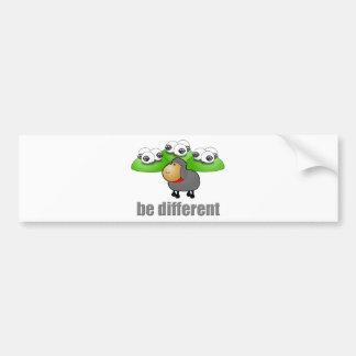 Seja diferente adesivo para carro