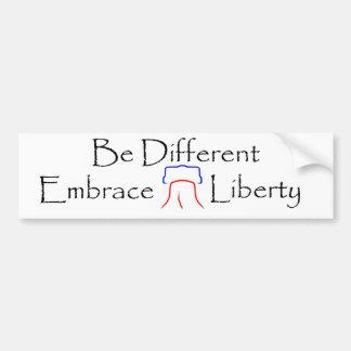 Seja diferente - liberdade do abraço adesivos