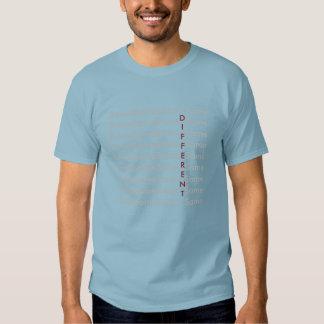Seja diferente - (o dobro tomou partido) uma tshirts