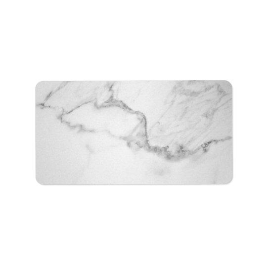 Seja etiqueta de endereço de mármore alegre