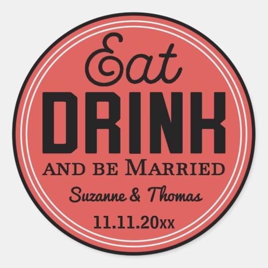 Seja etiqueta Wedding casada da tipografia do