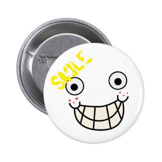 Seja feliz e sorriso bóton redondo 5.08cm