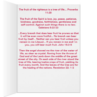 """""""Seja frutas da árvore"""" do cartão do espírito"""