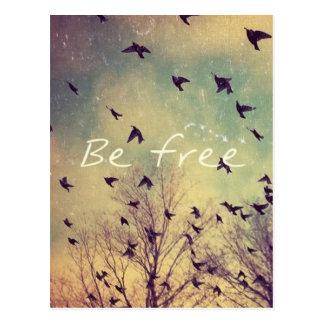 Seja livre cartão inspirado