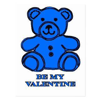 Seja meu azul do urso dos namorados os presentes cartao postal