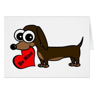 Seja meu cartão bonito do dia dos namorados do cão