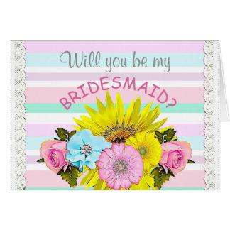 Seja meu cartão da festa de casamento da dama de