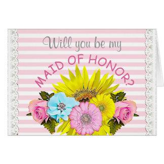 Seja meu cartão da festa de casamento da madrinha