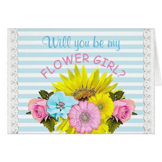 Seja meu cartão da festa de casamento do florista