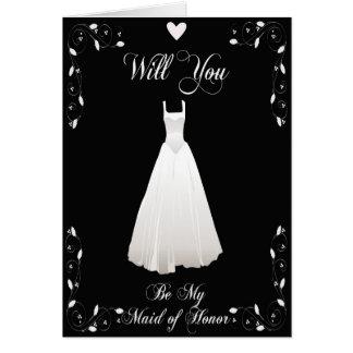 Seja meu convite do casamento da madrinha de cartão comemorativo