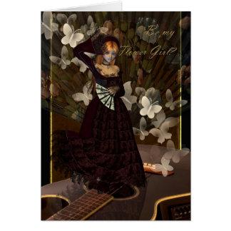 Seja meu dançarino espanhol do fã do estilo do cartão comemorativo