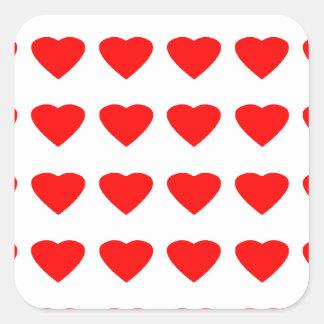 Seja meu jGibney dos corações 36Red Transp dos Adesivos Quadrados