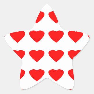 Seja meu jGibney dos corações 36Red Transp dos Adesivos Em Forma De Estrelas