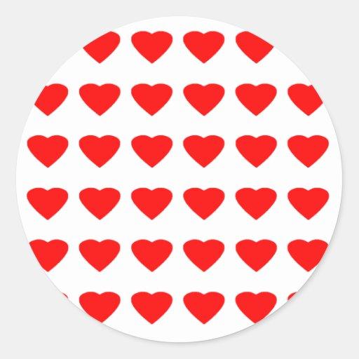 Seja meu jGibney dos corações 36Red Transp dos Adesivo Em Formato Redondo