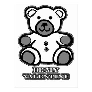 Seja meu preto branco do urso dos namorados o cartão postal