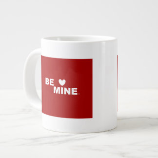 """""""Seja meu"""" quadrado VERMELHO Jumbo Mug"""